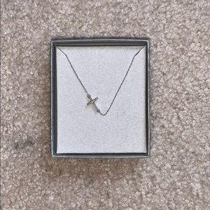 Zales diamond cross necklace